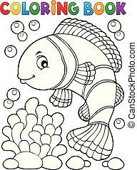 topic, 1, coloração, clownfish, livro