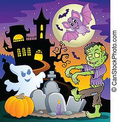 topic, 1, escena de halloween
