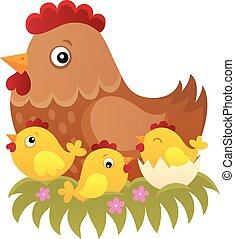 topic, 1, galinha, imagem