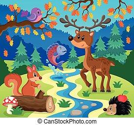 topic, 1, imagem, animais, floresta