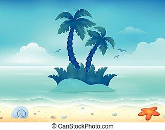 topic, 1, imagem, praia
