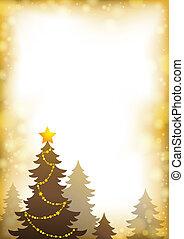 topic, 1, silueta, árvore natal