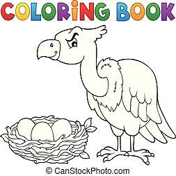 topic, 2, coloration, oiseau, livre