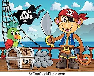 topic, 2, pirat, małpa