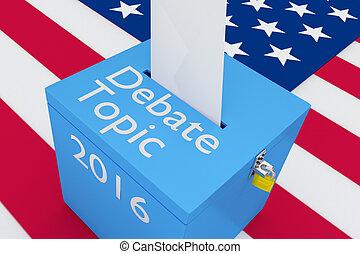 topic, 2016, 概念, 討論, 選挙