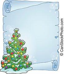 topic, 5, boompje, kerstmis, perkament