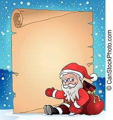 topic, 5, kerstmis, perkament