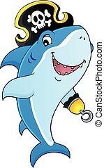 topic, 8, サメ, 海賊, イメージ