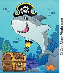 topic, 9, サメ, 海賊, イメージ