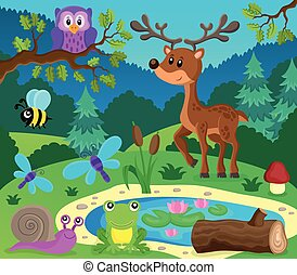 topic, 9, immagine, animali, foresta