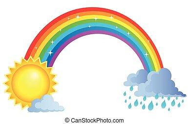 topic, arco íris, imagem, 1
