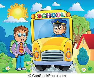 topic, autobús, escuela, imagen, 4