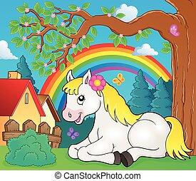 topic, caballo, imagen, 4