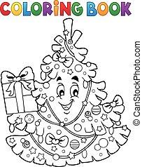 topic, colorido, árbol 1, libro, navidad