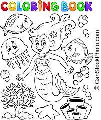 topic, colorido, 2, libro, sirena