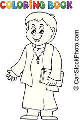 topic, coloritura, giovane, 1, prete, libro
