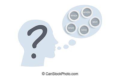 topic, concept, words:, question, qui, quand, pourquoi, vecteur, cinq, questions., quel, où