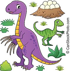 topic, dinosaurie, sätta, 8