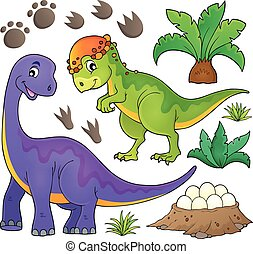 topic, dinosaurierer, satz, 5