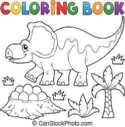 topic, dinosauro, 3, libro colorante