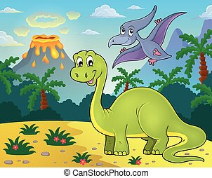 topic, dinosauro, immagine, 2