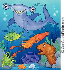 topic, fauna, beeld, 7, oceaan