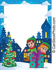 topic, frame, kerstmis, 4