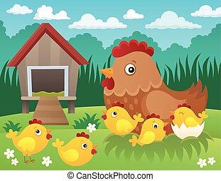 topic, galinha, 2, imagem