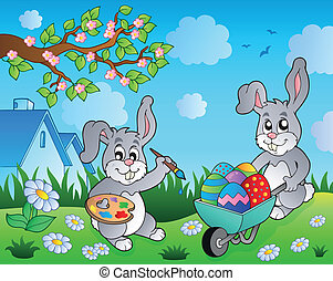 topic, image, 2, lapin pâques