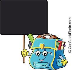 topic, imagem, feliz, 7, schoolbag