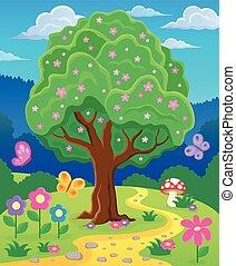 topic, imagen, árbol 3, primavera