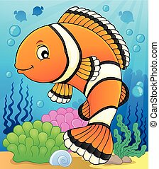 topic, imagen, 2, clownfish