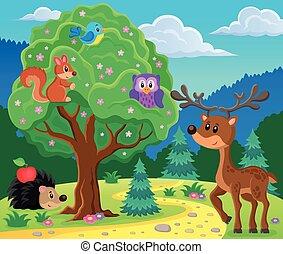topic, imagen, animales, bosque, 4