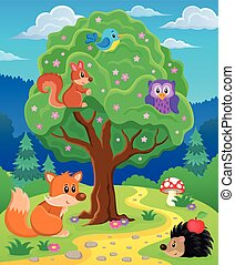 topic, immagine, animali, foresta, 3