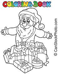 topic, kleurend boek, 7, kerstmis