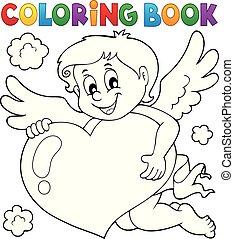 topic, livre coloration, cupidon, 4