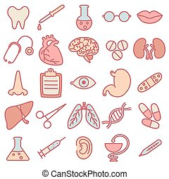 topic, médecine, icônes