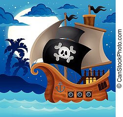 topic, nave, 2, pirata, immagine