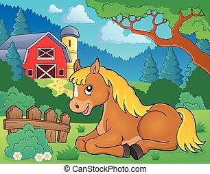 topic, pferd, 2, bild