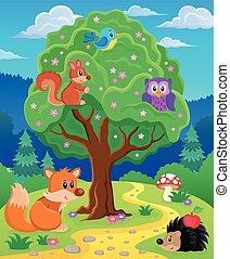 topic, podoba, živočichy, les, 3