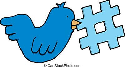 topic, twitter, label, vogel, vasthouden