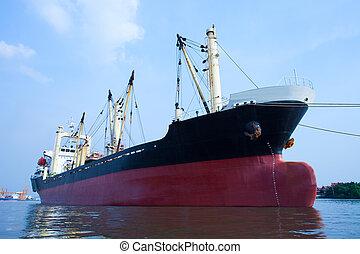 topic, uso, contenedor, comercial, flotar, agua, importación...
