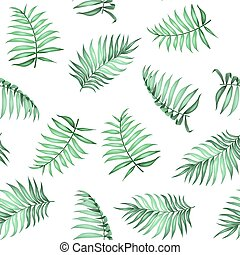 Topical palm leaves pattern. - Topical palm leaves on ...