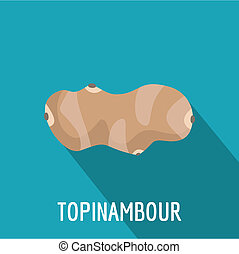 Topinambour icon, flat style.