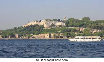 Topkapi Palace Istanbul - Topkapi Palace from the waterside,...