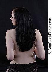 topless 2 - topless woman