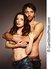 topless couple