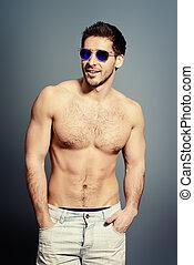 topless, man