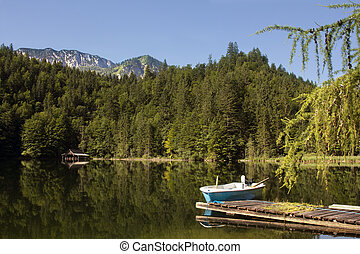 toplitzsee, austria, lago