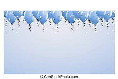 topo, balões